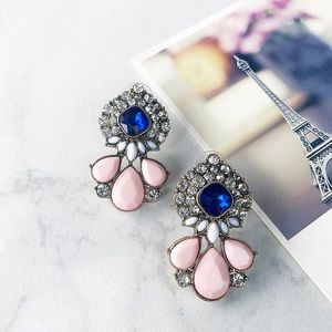 """Juliet"" Blush and Sapphire Earrings"